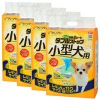 消臭炭シート ダブルストップ 小型犬用 レギュラー 112枚 犬 猫 ペットシーツ 4袋入り