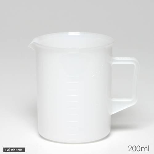 ポリプロピレン手付ビーカー・乳白色 200mL