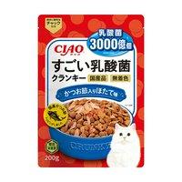 CIAO すごい乳酸菌クランキー かつお節入り ほたて味 200g