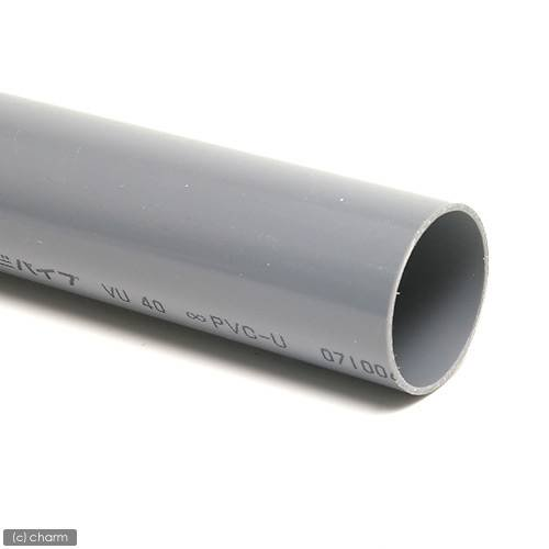 塩化ビニールパイプ VU40A(肉薄管) 48cm (色:グレー)