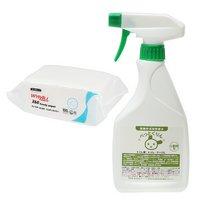 弱酸性消臭除菌水 ぺっとくりん ウサギ小動物用 500ml + ワイプオール X60 ハンディーワイパー セット