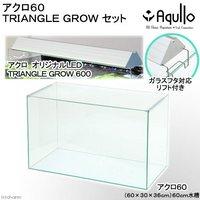 オールガラス60cm水槽 スーパークリア アクロ60S TRIANGLE LED GROW セット