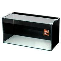 バックスクリーン貼付済 GEX グラステリア スリム450水槽 ジェットブラック 三面タイプ 45cmスリム水槽(単体)