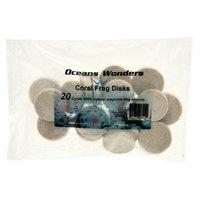 Oceans Wanders アラゴナイト コーラルフラッグ ディスク 20個 サンゴ ボンド 接着