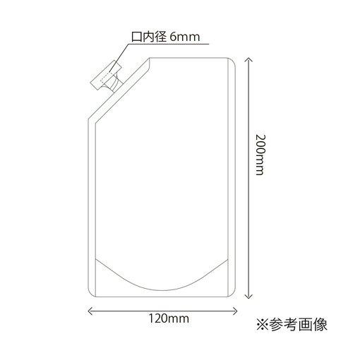 1ピースキャップ付白色スタンド袋 夢パック DPW-0350 120×200mm 1ケース600枚 業務用