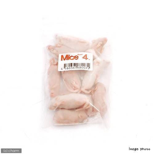 冷凍★L(10匹) カタ養殖 Mice4 冷凍ピンクマウス  パック 冷凍マウス 別途クール手数料 常温商品同梱不可