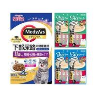 アソート 下部尿路の健康配慮 メディファス 11歳から チキン味 3kg+CIAOちゅ~る 2種各2袋