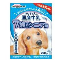 ドギーマン わんちゃんの国産牛乳 7歳からのシニア用 200ml ドッグフード ミルク 国産 24本入り