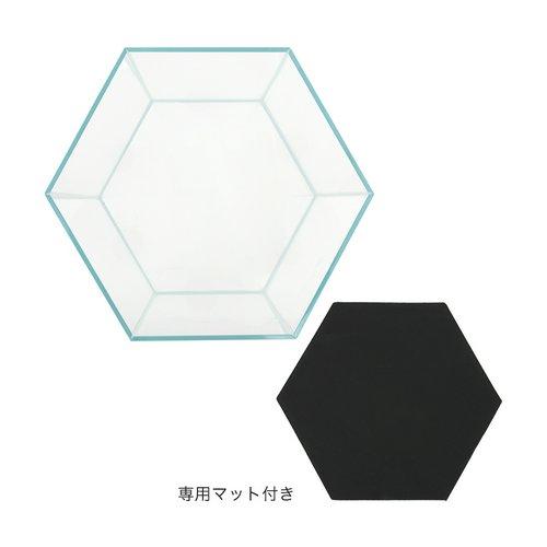 スーパークリア クロスカット 六角形水槽 対角40/六面20×H45cm/6mm
