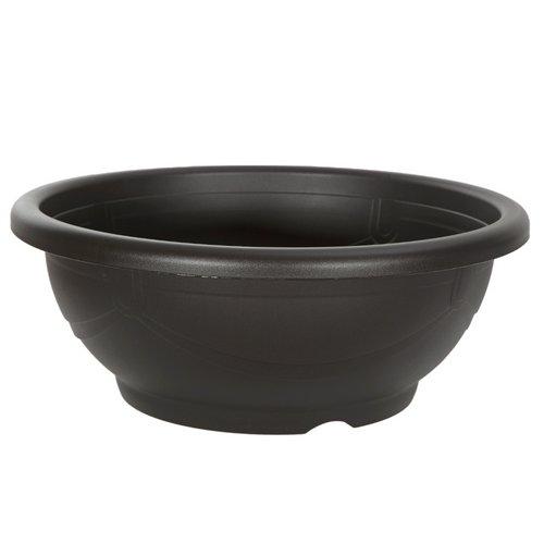 スドー メダカ鉢 黒茶 18号