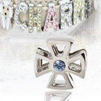 アウトレット品 チャームコレクション スライドチャーム メンズシリーズ 23 ブルー 犬 猫 名入れ首輪 ストラップ用パーツ 訳あり
