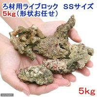 ろ材 バクテリア付き ろ材用ライブロック SSサイズ(5kg)(形状お任せ)