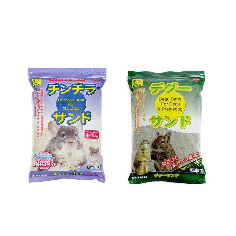 お買い得セット 三晃商会 SANKO チンチラサンド 1.5kg+デグーサンド 1.5kg