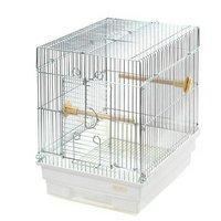 HOEI 21手のり 銀色メッキ(底色:ホワイト)(290×365×390) 鳥 ケージ 鳥かご
