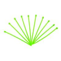 サンゴ配線の仕分けに便利 結束バンド 蛍光グリーン 100mm 10本入