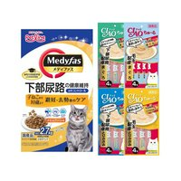 アソート 毛玉と下部尿路の健康配慮 メディファス 避妊去勢後のケア 2.7kg+CIAOちゅ~る 4種各1袋