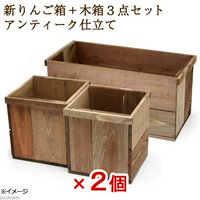 新りんご箱+木箱 6点セット アンティーク仕立て  ガーデニング DIY素材