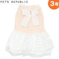 PET'S REPUBLIC エレガントレースワンピース 3号 ピンク