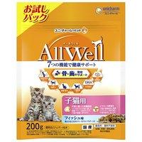 オールウェル 健康に育つ子猫用 フィッシュ味 挽き小魚とささみのフリーズドライパウダー入り 200g