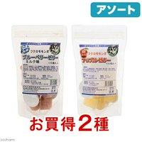 アソート フクロモモンガ用アップル&ブルーベリーゼリーセット 2種各1袋 ゼリー フクロモモンガ フード 餌