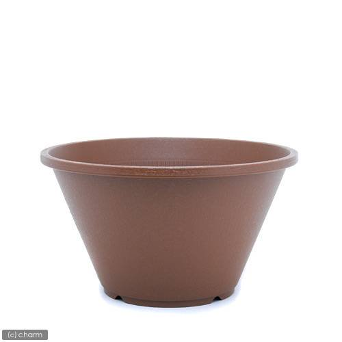 陶鉢(すえはち) 寄型 360 きん茶(φ36×H20.0cm・9L) お一人様5点限り