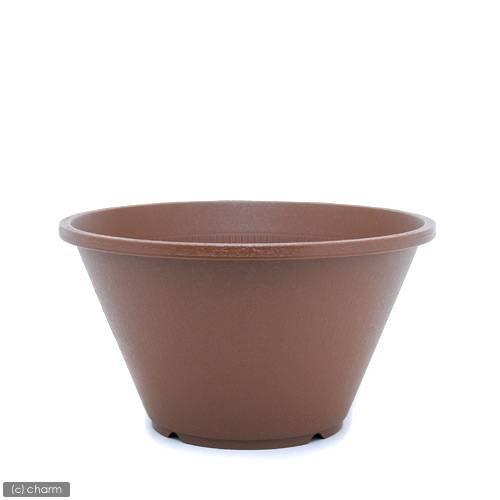 陶鉢(すえはち) 寄型 360 きん茶(φ36×H20.0cm9L)