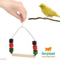 ファープラスト 木製バードスイング 小~中型鳥用 鈴付き PA4084 おもちゃ 止まり木