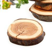 植物用 りんごの木の切り株スタンド M 3号鉢向け クリアコート 1個 国産天然木