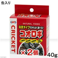 NPF コオロギ(缶入り) 40g 2個入り 両生類爬虫類 ハリネズミ フード 餌 エサ 缶詰