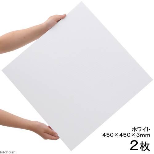 プラパール 90cm水槽用マット ホワイト 45×45cm 2枚