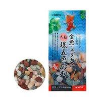 スドー 金魚メダカの大粒珠五色砂利(900g)