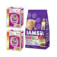 カルカン 子猫セット アイムス チキン 1.5kg + カルカン パウチ まぐろ 8袋パック 2種各1個