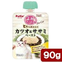 ペティオ 素材そのまま とろっと煮込んだ カツオ&ササミ ペースト For Cat 90g